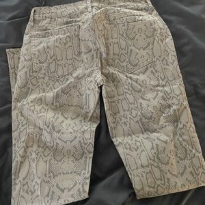 Snake Skin Jeans